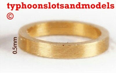 0132 SP050 Brass Spacer 0.5mm x 10 -New