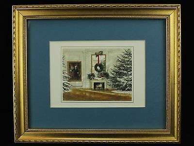 President Ronald and Mrs. Reagan WHITE HOUSE Christmas Card, Framed, 1986