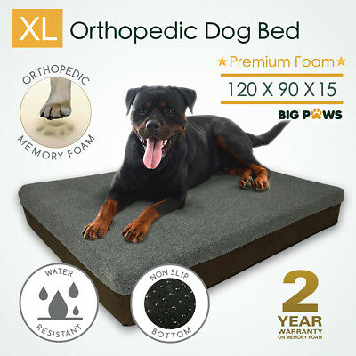 Big Thick Extra Large Memory Foam Dog Bed Orthopedic Pet Beds Waterproof