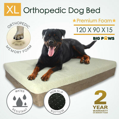 Memory Foam Dog Bed Extra Large Orthopedic Pet Bed Kennel XL Cushion Waterproof