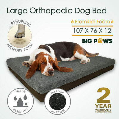 Big Memory Foam Dog Bed 12CM Thick Large Orthopedic Dog Pet Beds Waterproof
