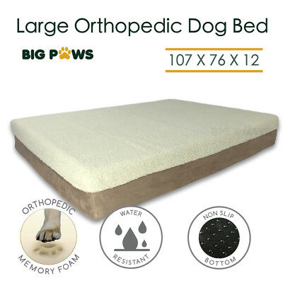 Orthopedic Memory Foam Dog Bed 12CM Thick Waterproof Large Dog Beds Big