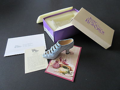 Just The Right Shoe Blue Victoria Promenade Retired Collectible - Mint with Box