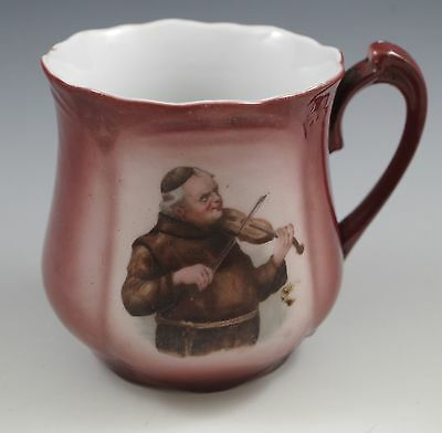 Antique Germany Monk Friar Playing Violin Mug -Vary Rare