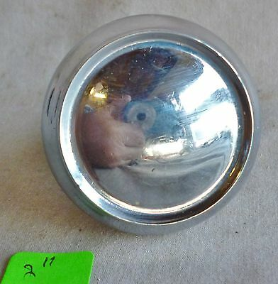"Door Knob (Single)  VERY DECO CHROME Plated over Solid cast brass 2""dia #B"