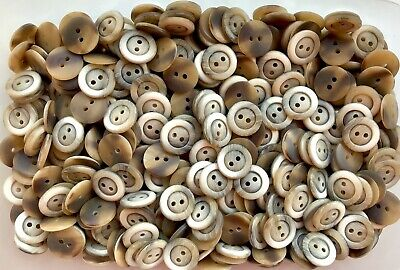 18mm 28L Light Brown /& Silvery Grey Pearlescent 4 Hole Children Button W341