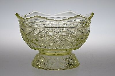 c 1885 #99 DAISY & BUTTON w/CROSSBARS Richards & Hartley CANARY Ind. Berry Bowl