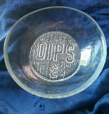 Vintage Blenko Clear Crystal 771D Dips Bowl, Nice And Hard To Find!
