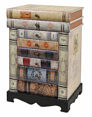 chest cabinet bedside table vintage design antique book look picclick uk. Black Bedroom Furniture Sets. Home Design Ideas