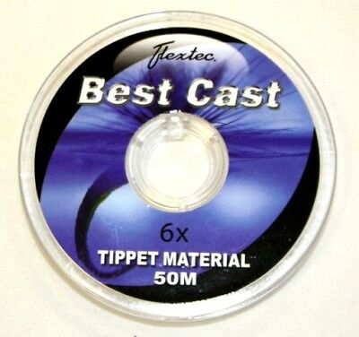 Flextec Fluorocarbon 50m Tippet & Leader Material Fly Fishing Line - All Sizes