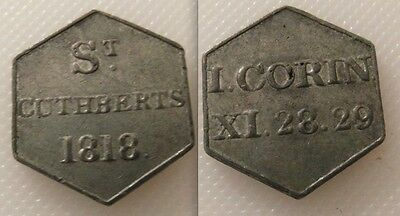 Collectable Scottish Communion Church Token Edinburgh /St Cuthberts 1818 /Lot 1