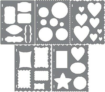 Fiskars Shape Template Stencil Scrapbook Xpress Craft SELECT YOUR DESIGN!