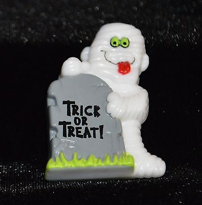 Halloween Fun Funny Mummy with Tombstone Trick or Treat Pin Brooch