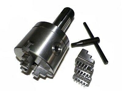 """Z LIVE CENTER 4"""" 3 Jaw Precision  Lathe Chuck with 5C Shank (Non-Rotating)"""