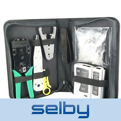 CAT6 Network Cable Tool Kit - Tester Crimper Stripper Cutter 8P8C RJ45 Fittings