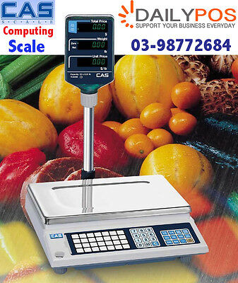 Brand New CAS AP-1 Computing Scale Trade Approved  15KG POS