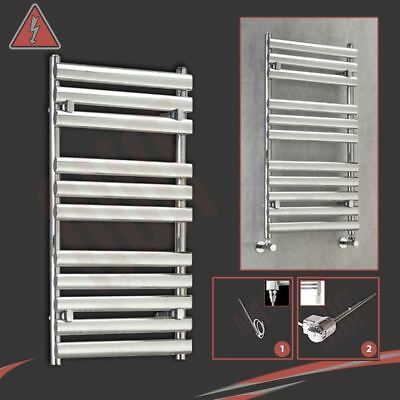 "500mm(w) x 930mm(h) Pre-Filled Electric ""Brecon"" Chrome Towel Rail - 300W"