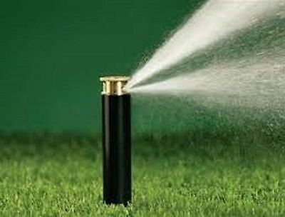 "Orbit Twin Spray 4"" Pop Up Brass Half Pattern Lawn Sprinkler"