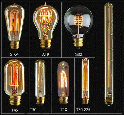 Edison Vintage Style E27 B22 BC Bulb Tungsten Filament 40W/60W Decor Light Lamp