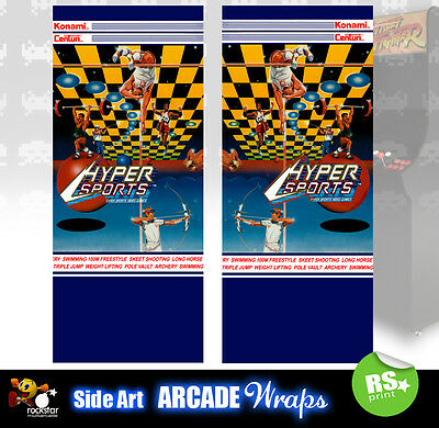 Hypersports Arcade Side Artwork Panel Stickers Graphics  / Laminated All Sizes