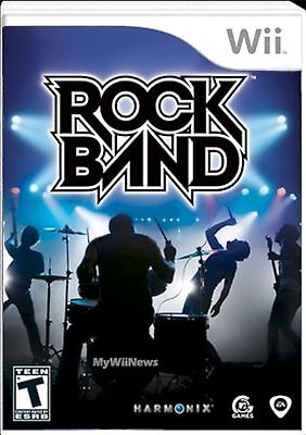 NEW SEALED Rock Band 1 Nintendo Wii/Wii-U Video GAME ONLY Harmonix NTSC RB1 disc