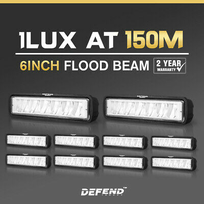 10x 6inch 30W Cree LED Work Light Flood Beam Driving Offroad Reverse 4x4 4WD