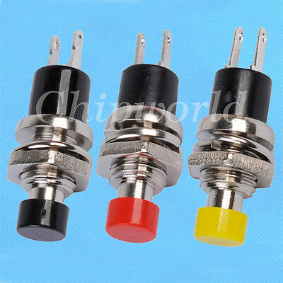 10PCS Lockless Momentary Push Button Switches Minischalter ON / OFF Schalter