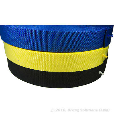 "Scuba Diving 2"" 50mm Standard Harness Webbing Weight Belt DIY Yellow, Black,Blue"