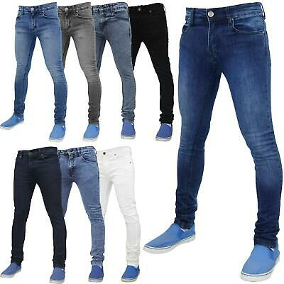 Mens True Face Super Skinny Slim Fit  Stretchable Jeans Denim Cotton Trousers