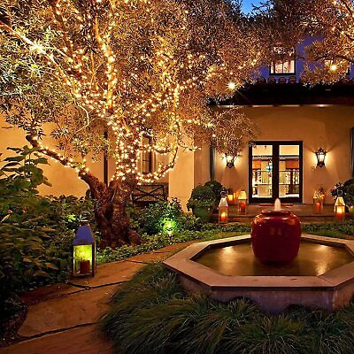 100/200 LEDs Solar Powered Fairy String Strip Xmas Lights Outdoor Wedding Party