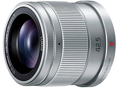 Panasonic LUMIX G 42.5mm F1.7 POWER O.I.S. Silver H-HS043 Japan Version New