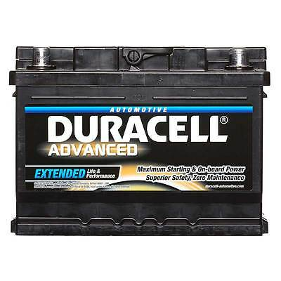 Duracell Advanced Car Battery 12V 62Ah Type 075 540CCA Sealed OEM Replacement