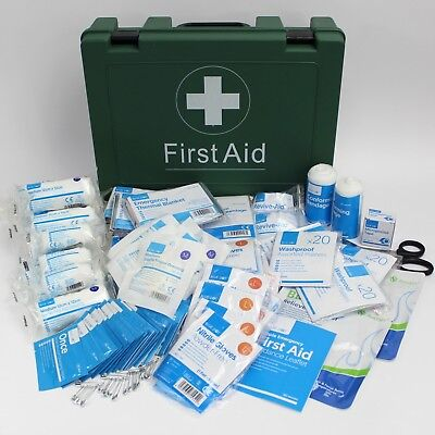BS8599-1 Compliant Workplace First Aid Kit in Sturdy Green Box. B88599 Box LARGE