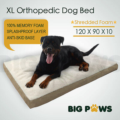Memory Foam Dog Pet Bed Mat Orthopedic Extra Large Waterproof Big