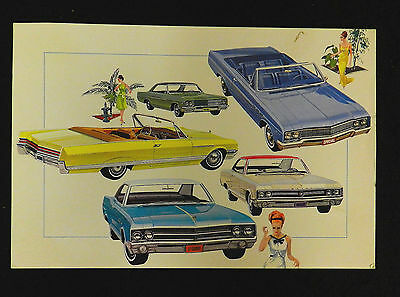 1965 Gm Buick Ad Large Post Card Original