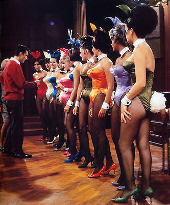 Hugh Hefner 1960's With Playboy Magazine Bunnies 8X10 Photo Picture Wow!