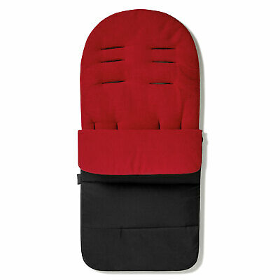 Footmuff / Cosy Toes Compatible with Jane Muum Pushchair Fire Red