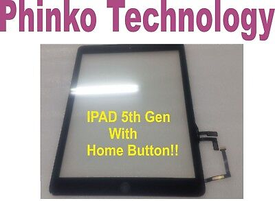 Touch Screen Front Glass Digitizer For IPAD AIR A1474 A1475,  Black