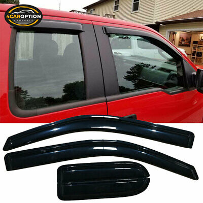 For 04-14 Ford F150 Supercab Extended Cab Acrylic Window Visors 4Pc Set