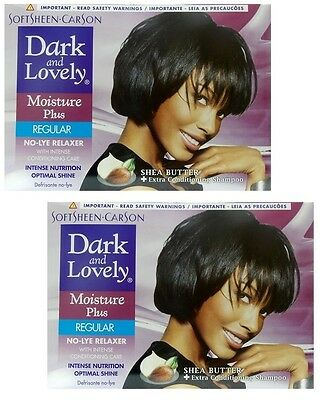 2x Dark and Lovely - Relaxer / Glättungscreme Moisture Plus REGULAR