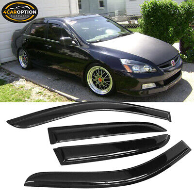 For 03-07 Honda Accord Sedan Acrylic Window Visors 4Pc Set