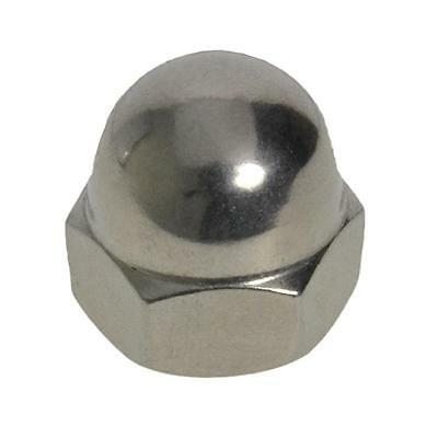 Qty 20 Dome Nut M8 (8mm) Stainless Steel 1 Piece Acorn 304 A2 70 SS