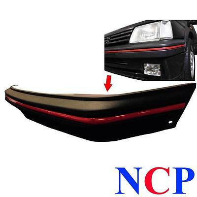 Peugeot 205 Gti Mk 2 1990 - 1996 Front Bumper Black With Red Trim & Bolts 740173