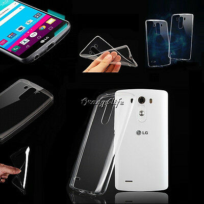 0.3mm Ultra Thin Clear TPU Soft Case Rubber Slim Cover Silicone Skin Back For LG