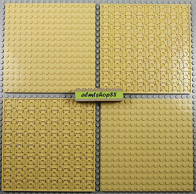 "LEGO - 16x16 Dots (5""x5"") Tan Baseplate - 91405 Thick Base Plate Flat City Lot"