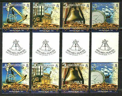 Pitcairn Islands 2007 Definitive Set(12) Gutter Pairs Mnh