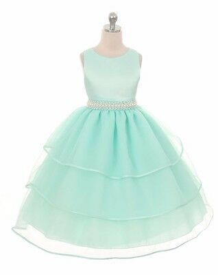 New Flower S Mint Green Dress Wedding Pageant Party Christmas Easter Fancy