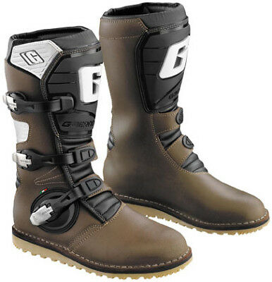 Gaerne Balance Pro-Tech Trials Motorcycle Boots Size 11 Brown 2524-013-11