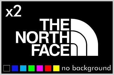 (2) The North Face Car Window Sticker Wall Vinyl Truck Decal Outdoors
