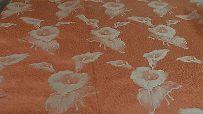 Rare Yardage From 1930'S–40'S Of Floral Brocatelle – Calla Lilies Rr99